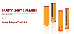 Safety Light Curtains ( Type 4 & Type 2 with 10 mm Pitch & IP 67)