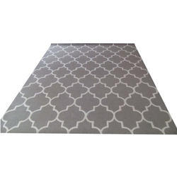 Multicolor Printed Silk Hand Tufted Carpet