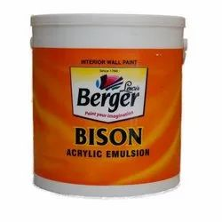 High Gloss Shell White Berger Paints Bison Acrylic Distemper Paint, Packaging Type: Bucket