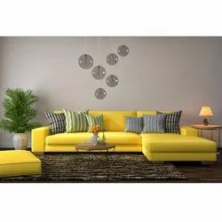 Yellow Color Corner Sofa Set