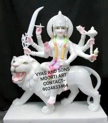 White Marble Durga Murti
