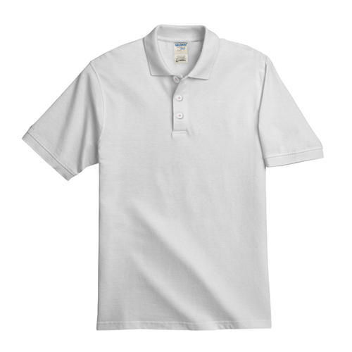 White And Lime Green Plain Gents White Polo Half Sleeve T ...