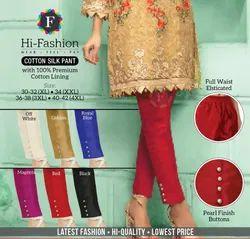 Regular Fit Cotton Silk Women Pant