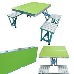 Folding Picnic Table-Green Finish Top