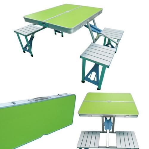 Folding Picnic Tablegreen Finish Top At Rs Piece Garden - Picnic table finish