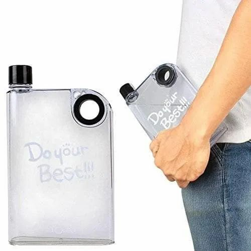 Do Your Best A5 Notebook Style Ultra Slim Water Bottle 380 ml Free Shipping