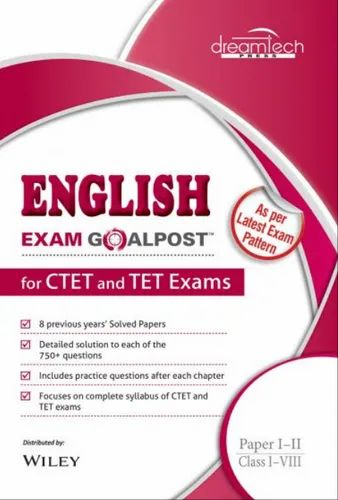 English Exam Goalpost, For Ctet And Tet Exams, Paper I Ii, Class I Vii Books