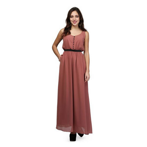 73c1f098c6 Women Rust Color Elasticated Waist Maxi Dress at Rs 1839  piece ...