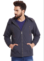 Monte Carlo Men Navy Blue Solid Jacket