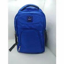 Blue Polyester Ladies College Bag