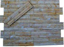 Teak  bamboo Stone Cladding