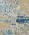 Hand Knotted Modern Design Viscose Oxidized Wool Rug