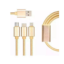 3 In 1 Cotton Braided Cable