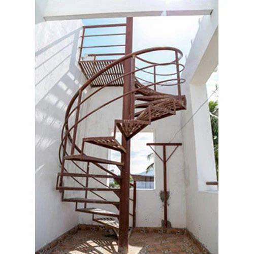 Awesome 10 Feet Iron Round Stair