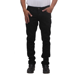 Mens Denim Plain Stretchable Black Jeans, Size: 32-36