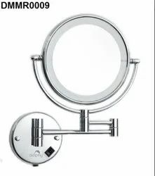 Silver 5X LED Magnifying Shaving & Makeup Mirror