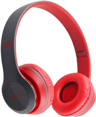 dae759f055e Multicolor With Microphone Wireless Bluetooth Headphone P47, Battery ...