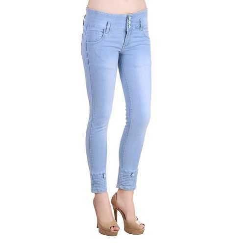 109dd2090a5d35 Ladies Light Blue Denim Skinny Jeans, Size: 25 - 30, Rs 390 /piece ...