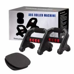 3-in-1 Arm Exercise Equipment - Push Up Bars, AB Wheel Roller