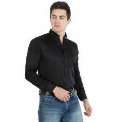 Kamiza Red Pre Washed 100% Cotton Mens Plain Shirts