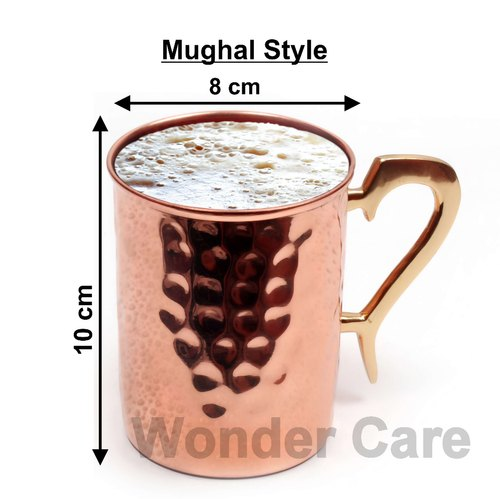 100%Copper Moscow Mule Cup, Solid Copper Classic Mughal Style Cup