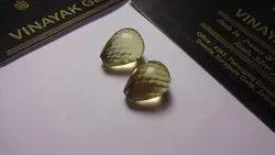Lemon Quartz Half Drill Faceted Teardrops Briolette Calibrated Loose Gemstone Pair Beads 8x12 mm