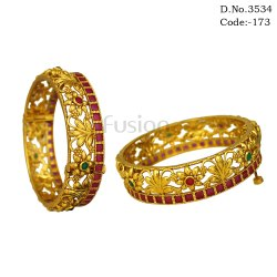 Antique Ruby Emerald Indian Wedding Bangles