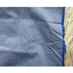 Blue Cotton Chambray Plain Fabric, For Shirting, GSM: 100-150 Gsm