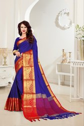 Heavy Kashmiri Rich Cotton Silk Saree for Partywear Indian Style
