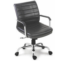 SPS-239 Workstation Black Leather Chair