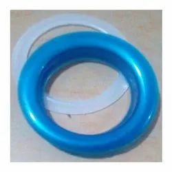 Blue Plastic Eyelet Ring With Washer