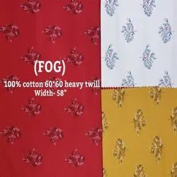 100% Cotton Heavy Twill Shirting Fabrics (Fog)