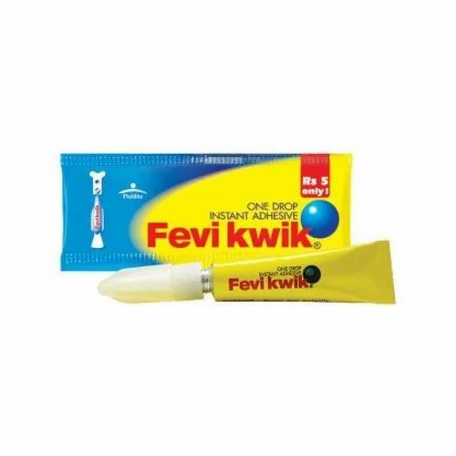Industrial Grade 3g Feviquick Adhesive, Packing Type: Tube