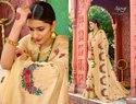 Peach Fancy Ethnic Degsiner wear Saree