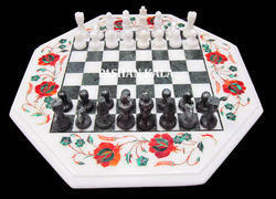 Inlay Marble Chess Tables Tops