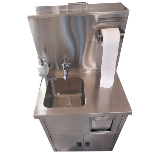 SS Hand Washing Sink with Top Water Tank