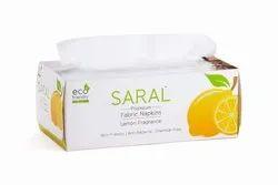 White Plain Saral Premium Fabric Napkins