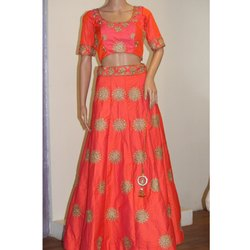 Designer Orange Lehenga Choli