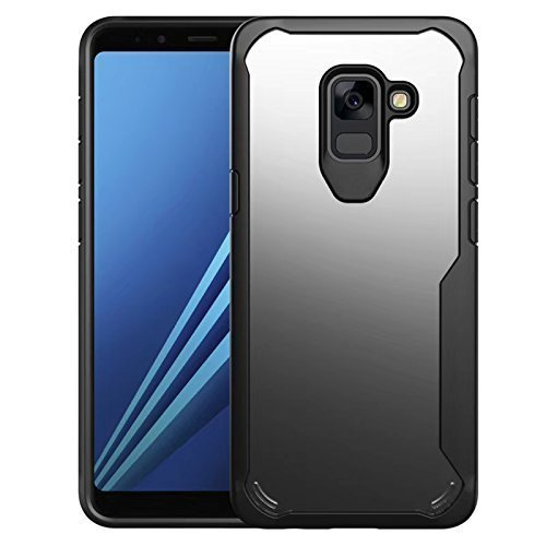 new styles d5e13 a242d Ecosmos Shockproof Armor 360 Protection Back Cover Case For Samsung A8plus  2018 Plus Black Shield