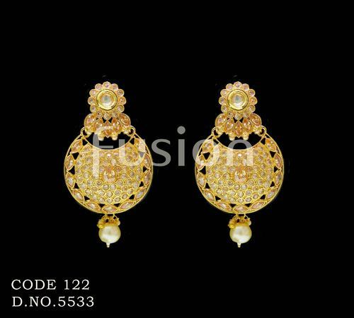 51c31c84c Fusion Traditional Antique Pearl Hanging Indian Wedding Earrings, Rs ...