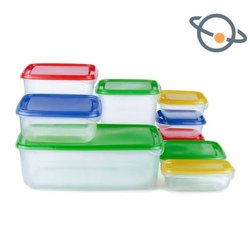 Pink Plastic Storage Containers, Capacity: 2-16 Kg, Size/Dimension: Regular