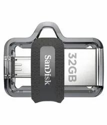 Sandisk Ultra Dual Drive 3.0 32 Gb Otg Drive  (Black, Type a To Micro Usb)