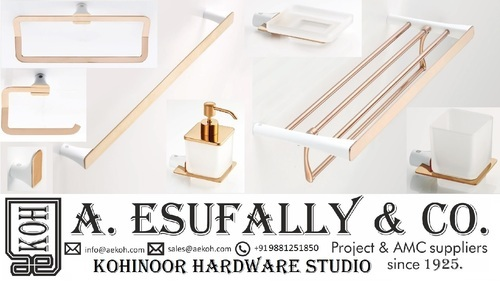 Brass Rose Gold Bathroom Accessories Rs 28500 Set A Esufally