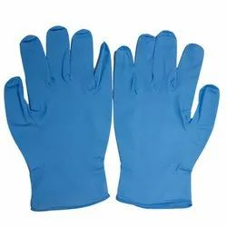 280 mm Mid forearm Nitrile Examination Gloves, Size: 9 Inches