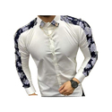Mens Full Sleeve Printed Shirt, Size: S-xl
