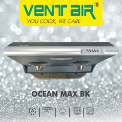 OCEAN MAX BK Ventair Kitchen Chimney