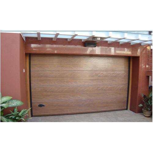 Brown Automatic Rolling Garage Door Hercules Automation Id