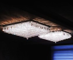 LED Brass Crystal Chandelier