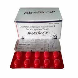 Diclofenac Potassium Serratiopeptidase Paracetamol Tablet