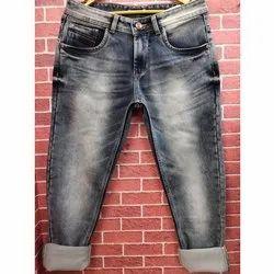 Casual Wear Zipper Mens Narrow Fit Denim Jeans, Waist Size: 28-36